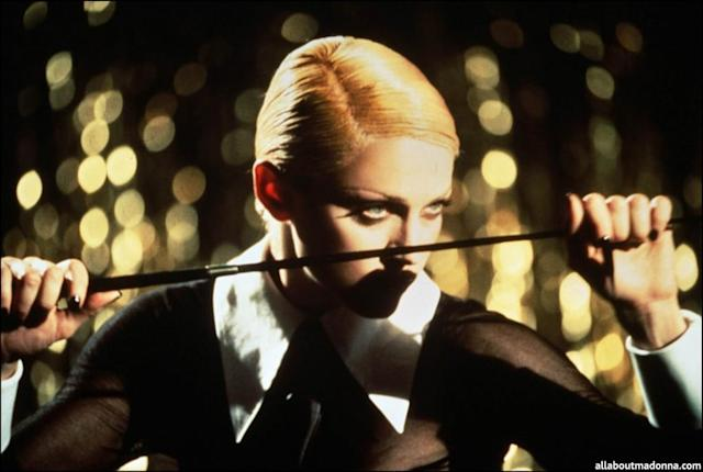 "Madonna's ""Erotica"" video. (Photo: Warner Bros.)"