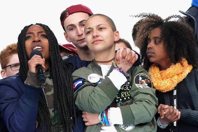 Young people speak at March for Our Lives in Washington, D.C. (Photo: Getty Images)