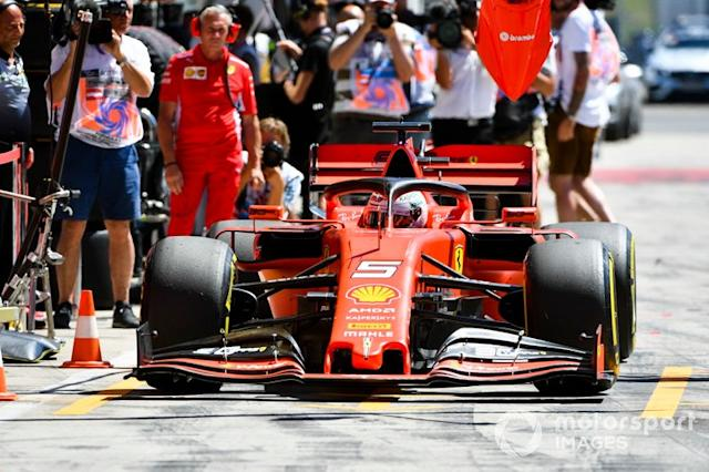 "Sebastian Vettel, Ferrari SF90 <span class=""copyright"">Mark Sutton / Motorsport Images</span>"