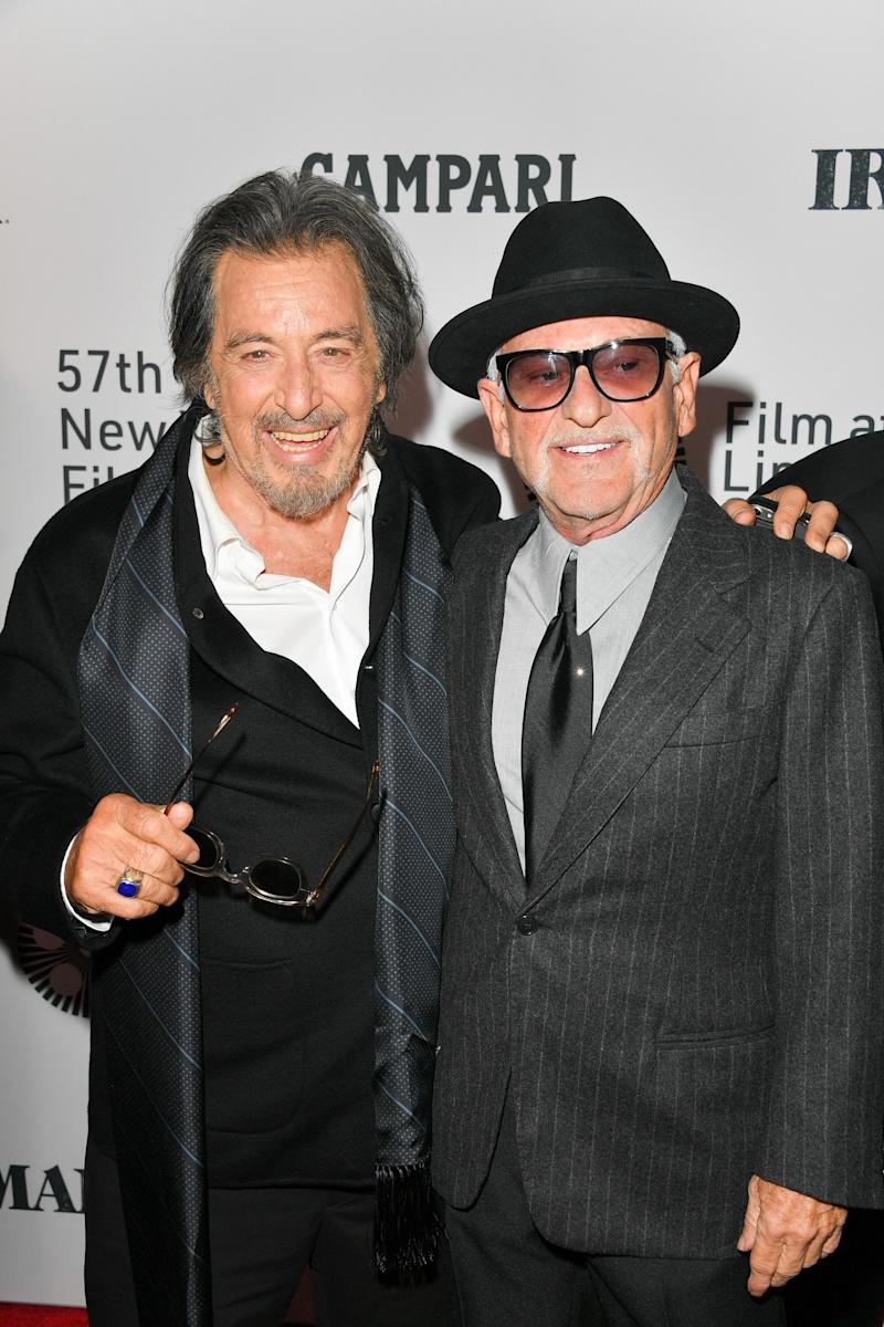Al Pacino and Joe Pesci at The Irishman premiere in New York, September 27, 2019.