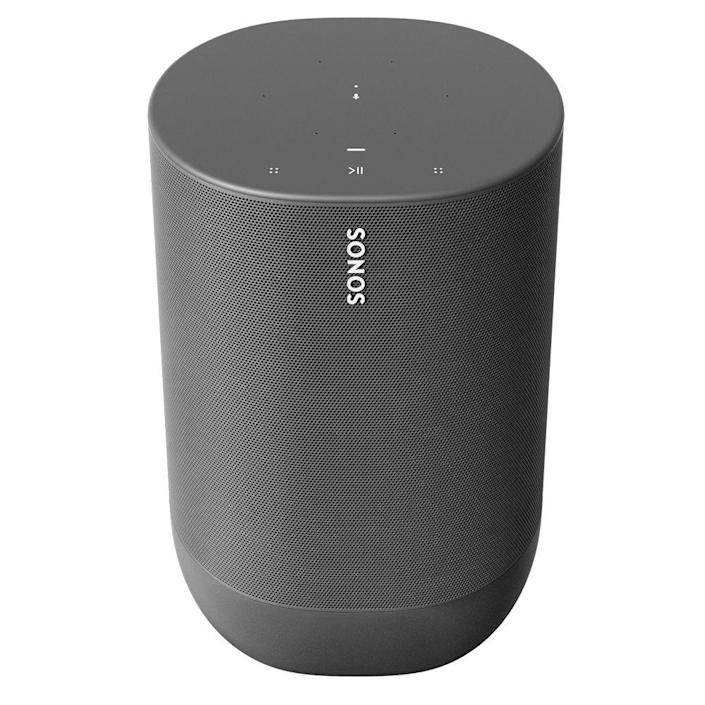 """<p>sonos.com<br>$399.00</p><p><a class=""""link rapid-noclick-resp"""" href=""""https://go.redirectingat.com?id=74968X1596630&url=https%3A%2F%2Fwww.sonos.com%2Fen-us%2Fshop%2Fmove.html&sref=https%3A%2F%2Fwww.menshealth.com%2Ftechnology-gear%2Fg19521968%2Fcool-gifts-for-dad%2F"""" rel=""""nofollow noopener"""" target=""""_blank"""" data-ylk=""""slk:BUY IT HERE"""">BUY IT HERE</a></p><p>This sleek portable speaker is more durable than it looks—it can handle drops, hail, snowstorms, sandy beaches, and anything else you could possibly think of, while delivering high-quality sound with Bluetooth and Wifi capabilities. Wherever his adventures take him, nothing will stop him from jamming out to his favorite tunes. <br></p>"""