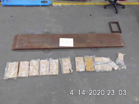 In total 25kg of heroin was found in the lorry (Picture: NCA)