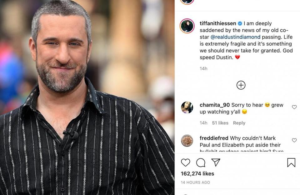"""'Saved by the Bell' star Dustin joins the list of celebrities whose adult-orientated tapes were leaked … voluntarily. In 2006, Dustin directed and released his own film, which he later claimed featured a """"stunt double"""" in an interview with Oprah Winfrey."""