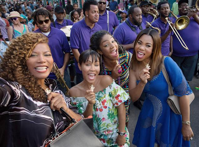"<p>It may stick to the typical ""women behaving badly"" formula of its premise, but <em>Girls Trip</em> is ultimately a story about female empowerment, where finding love isn't the goal and happy endings can mean finding true friendship instead. As you may have heard, Tiffany Haddish steals the film as the funemployed Dina, who would do anything — literally <em>anything</em> — for her friends, and in turn would make anyone want to join ""the flossy posse."" <em>— Jen Kucsak </em>(Photo: Everett Collection) </p>"