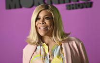 """FILE - In this Oct. 28, 2019 file photo, Wendy Williams attends the world premiere of Apple TV+'s """"The Morning Show"""" in New York. A new authorized biopic and a documentary about Williams will debut on Lifetime on Saturday. (Photo by Evan Agostini/Invision/AP, File)"""