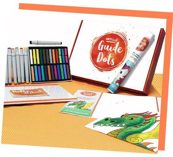 """<p>If you have a budding artist in your house, Guide Dots is a curriculum designed to teach kids to draw. The subscription combines strategically-placed dots and online instruction to get them making frame-worthy masterpieces.</p><p><em>$90+ for three months<br>Ages: 4</em><em>–9</em></p><p><a class=""""link rapid-noclick-resp"""" href=""""https://guide-dots.com/"""" rel=""""nofollow noopener"""" target=""""_blank"""" data-ylk=""""slk:BUY NOW"""">BUY NOW</a><br></p>"""