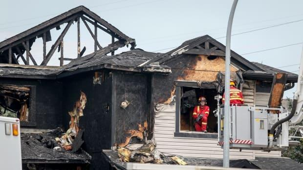 The cause of the fire has not been determined but a preliminary investigation does not indicate criminal activity, according to RCMP. (Jeff McIntosh/The Canadian Press - image credit)