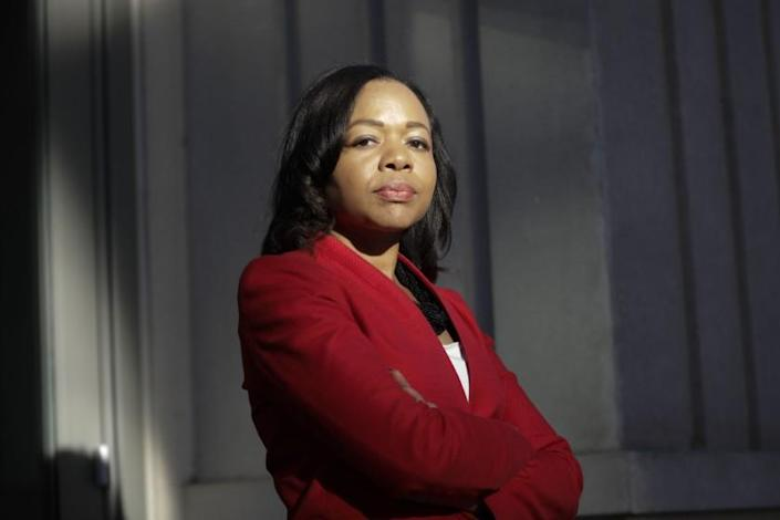 Kristen Clarke, President and Executive Director Lawyer's Committee for Civil Rights Under Law in Washington, Tuesday, Oct. 15, 2019. (AP Photo/Pablo Martinez Monsivais)