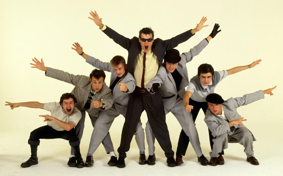 Madness circa 1981. Left to right: Lee Thompson, Mark Bedford, Chas Smash, Mike Barson, Suggs, Chris Foreman, Dan Woodgate. (Photo: Michael Putland/Getty Images)