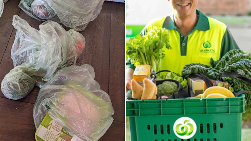 Shopper hits out at 'wasteful' Woolworths delivery.