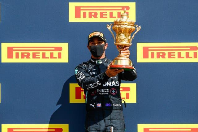 Hamilton won last year's race which was staged without spectators