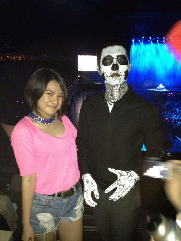 Lady Gaga's fans arrive all dressed up for her concert. (Photo courtesy of Vivian Tsui)