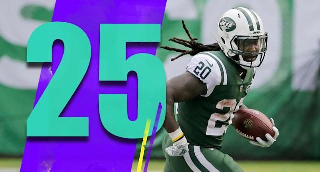<p>The highlight for a very good day by the Jets was Sam Darnold's 35-yard touchdown pass to Robby Anderson down the left sideline. The rookie hasn't been consistent yet, but his good moments are very promising. (Isaiah Crowell) </p>