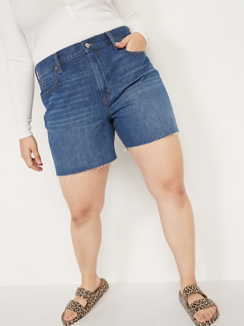 High-Waisted Slouchy Cut-Off Jean Shorts (Photo via Old Navy)