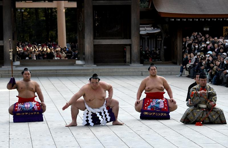 Sumo's three grand champions hope to turn the page on a scandal-hit 2017