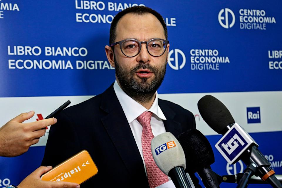 The Minister of Economic Development Stefano Patuanelli during the presentation of the white book of digital economy . Rome (Italy), July 15th 2020 (Photo by Samantha Zucchi/Insidefoto/Mondadori Portfolio via Getty Images) (Photo: Mondadori Portfolio via Getty Images)