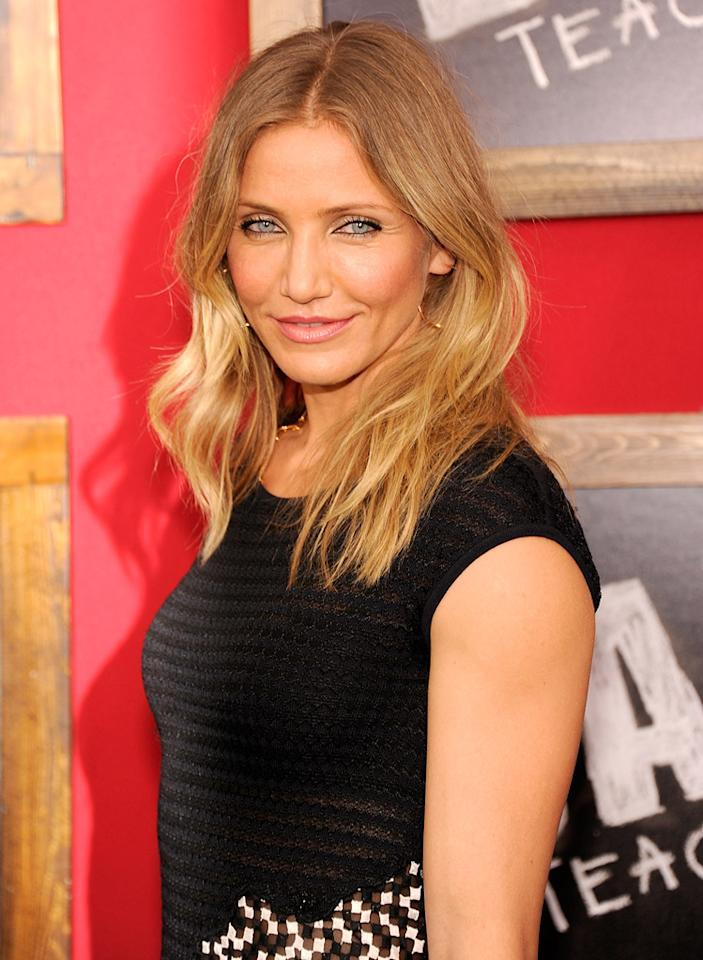 "<a href=""http://movies.yahoo.com/movie/contributor/1800020297"">Cameron Diaz</a> at the New York City premiere of <a href=""http://movies.yahoo.com/movie/1810150690/info"">Bad Teacher</a> on June 21, 2011."