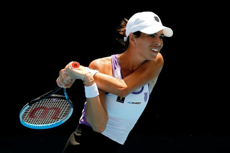 Competitive spirit: Aussie Ajla Tomljanovic of Australia in action against American Alison Riske in the UTR Pro Match Series event