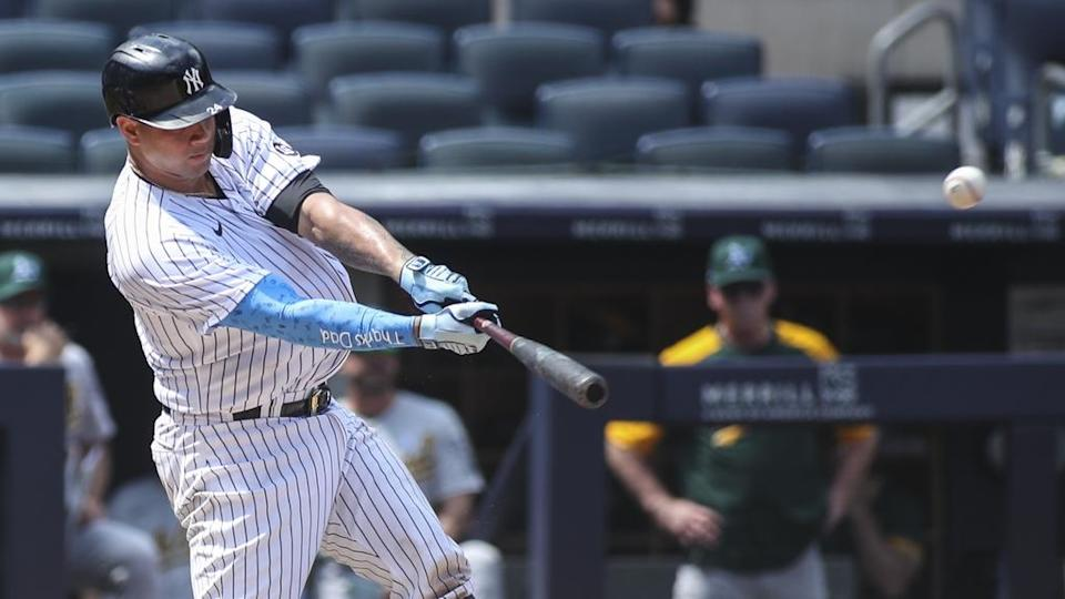 Gary Sanchez swinging on Father's Day 2021