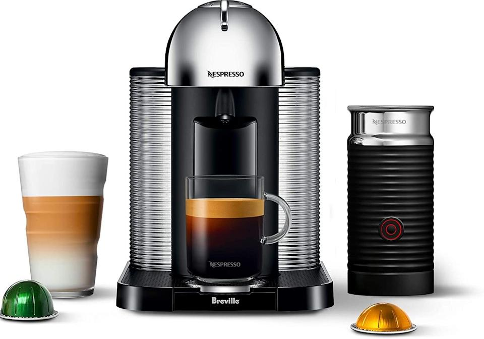 """Now you can whip up delicious, cafe-style cappuccinos right from your kitchen countertop — this thing also comes with a milk frother. It's compact enough to not take up too much space, and it'll eventually save you lots of money since you'll be making all your coffees at home.<br /><br /><strong>Promising review:</strong>""""We are impressed! I am on my second cappuccino as I write this review. The coffee is rich, creamy and so flavorful! The machine is very easy to use, convenient, and gives you an aromatic and very delicious cup of coffee in just a couple of minutes. It's a great value too. Each cup of coffee costs less than a dollar, saving you money over the competition! The milk frother is wonderful addition. Works great and adds depth and creaminess to your coffee! I just love this machine!"""" —<a href=""""https://amzn.to/3swizgI"""" target=""""_blank"""" rel=""""nofollow noopener noreferrer"""" data-skimlinks-tracking=""""5723569"""" data-vars-affiliate=""""Amazon"""" data-vars-href=""""https://www.amazon.com/gp/customer-reviews/R1Q3CUKV3VA3EO?tag=bfjasmin-20&ascsubtag=5723569%2C9%2C31%2Cmobile_web%2C0%2C0%2C0"""" data-vars-keywords=""""cleaning"""" data-vars-link-id=""""0"""" data-vars-price="""""""" data-vars-retailers=""""Amazon"""">Renee Beckman</a><br /><br /><strong>Get it from Amazon for <a href=""""https://amzn.to/3ebLOjp"""" target=""""_blank"""" rel=""""noopener noreferrer"""">$210.94</a> (available in five colors).</strong>"""