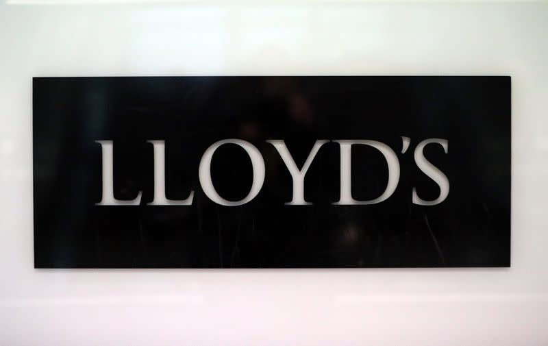 Lloyd's of London logo at City of London financial district