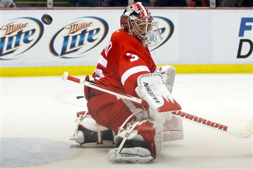 Howard, Red Wings shut out Blues 3-0