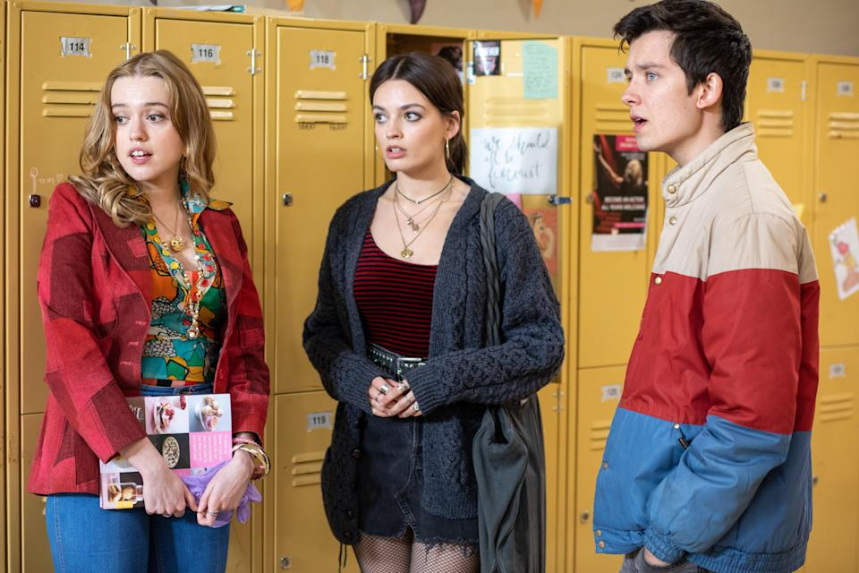 """<p>Imagine going through your awkward high school years with a mom who is a sex therapist. That's the life Otis is living on this British comedy-drama that pretty perfectly captures the awkwardness of that time in your life. There are currently two seasons to binge, and the show has been renewed for a third. </p> <p><a href=""""https://www.netflix.com/title/80197526"""" rel=""""nofollow noopener"""" target=""""_blank"""" data-ylk=""""slk:Available to stream on Netflix"""" class=""""link rapid-noclick-resp""""><em>Available to stream on Netflix</em></a></p>"""