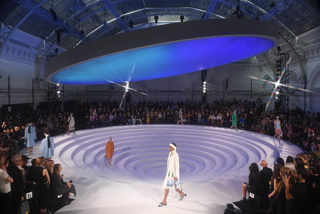 <p>One of our favourites, a giant circular runway, with a floating UFO-like lid.<br /><em>[Photo: Getty]</em> </p>