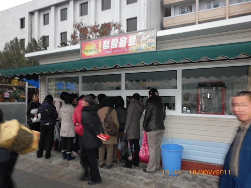 A Samtaesong takeaway outlet in Pyongyang. (PHOTO: Courtesy of Patrick Soh)