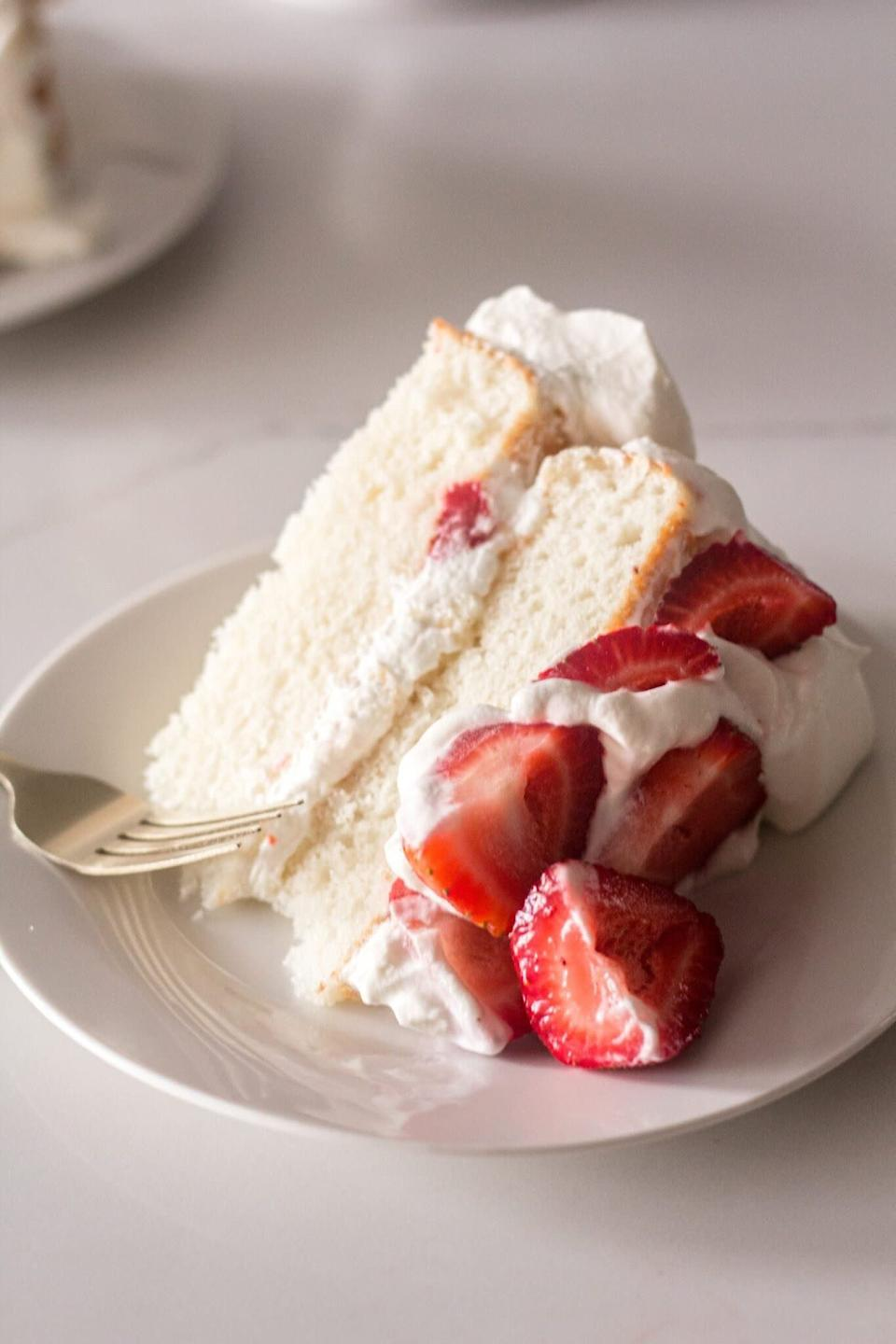 "<a href=""https://www.alittlefood.com/strawberry-shortcake-cake/"" rel=""nofollow noopener"" target=""_blank"" data-ylk=""slk:Strawberry Shortcake Cake from A Little Food"" class=""link rapid-noclick-resp""><strong>Strawberry Shortcake Cake from A Little Food</strong></a>"