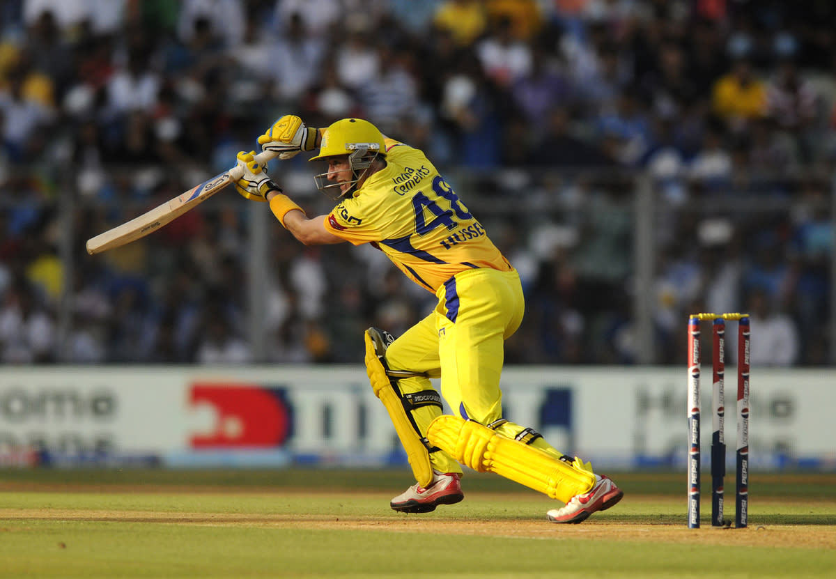 Michael Hussey of Chennai Super Kings bats during match 49 of the Pepsi Indian Premier League ( IPL) 2013  between The Mumbai Indians and the Chennai SUperkings held at the Wankhede Stadium in Mumbai on the 5th May 2013 ..Photo by Pal Pillai-IPL-SPORTZPICS  ..Use of this image is subject to the terms and conditions as outlined by the BCCI. These terms can be found by following this link:..https://ec.yimg.com/ec?url=http%3a%2f%2fwww.sportzpics.co.za%2fimage%2fI0000SoRagM2cIEc&t=1506184852&sig=8EF9aXnkNJb2c98ddz76UQ--~D
