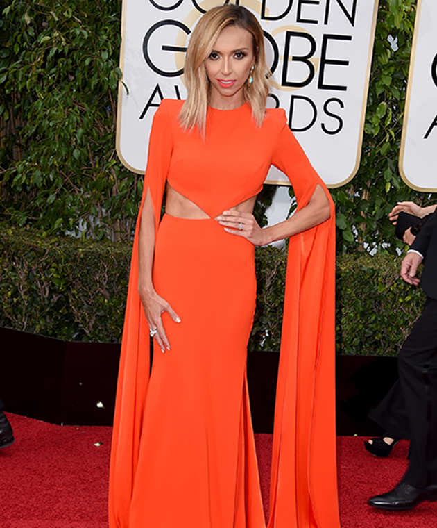 Giuliana Rancic stuns on the Golden Globes red carpet in