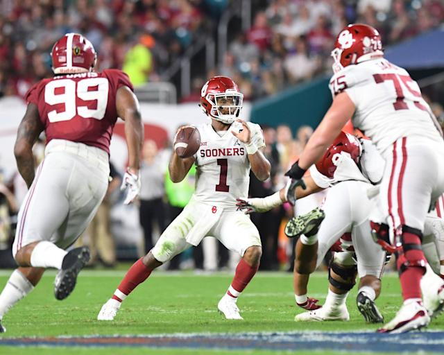 Oklahoma's Kyler Murray is one of the most intriguing QB prospects in the 2019 NFL draft class. (AP)