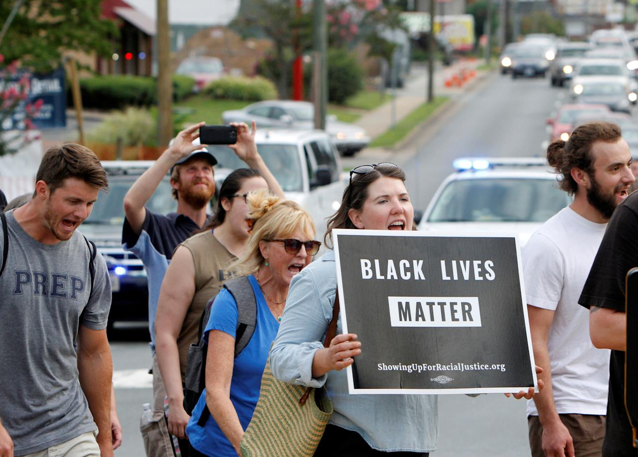 "<p>Participants of ""Charlottesville to D.C: The March to Confront White Supremacy"" begin a ten-day trek to the nation's capital from Charlottesville, Va., Aug. 28, 2017. (Photo: Julia Rendleman/Reuters) </p>"