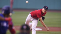 Boston Red Sox starting pitcher Nick Pivetta delivers during the first inning of a baseball game against the Toronto Blue Jays at Fenway Park, Monday, July 26, 2021, in Boston. (AP Photo/Charles Krupa)