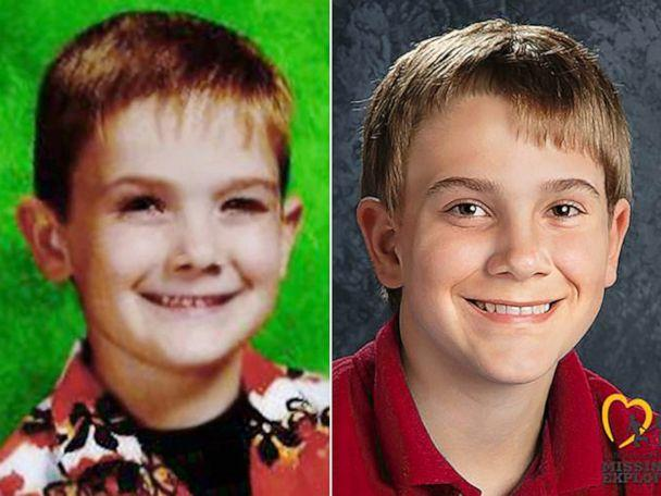 Timmothy Pitzen, pictured left, was last seen at a water park in Dells, Wis., May 12, 2011. Right is an age-progressed image of Pitzen. (Aurora Police Department via Center for Missing and Exploited Children)