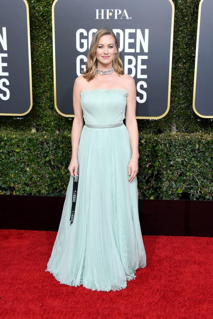<p>Yvonne Strahovski attends the 76th Annual Golden Globe Awards at the Beverly Hilton Hotel in Beverly Hills, Calif., on Jan. 6, 2019. (Photo: Getty Images) </p>