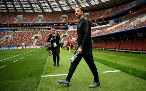 <span>Gareth Southgate surveys the scene of England's impending World Cup semi-final victory/defeat</span> <span>Credit: fifa </span>