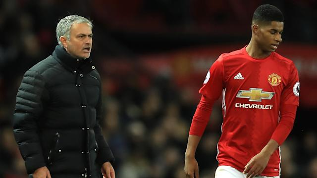 Jose Mourinho Marcus Rashford Manchester United Premier League