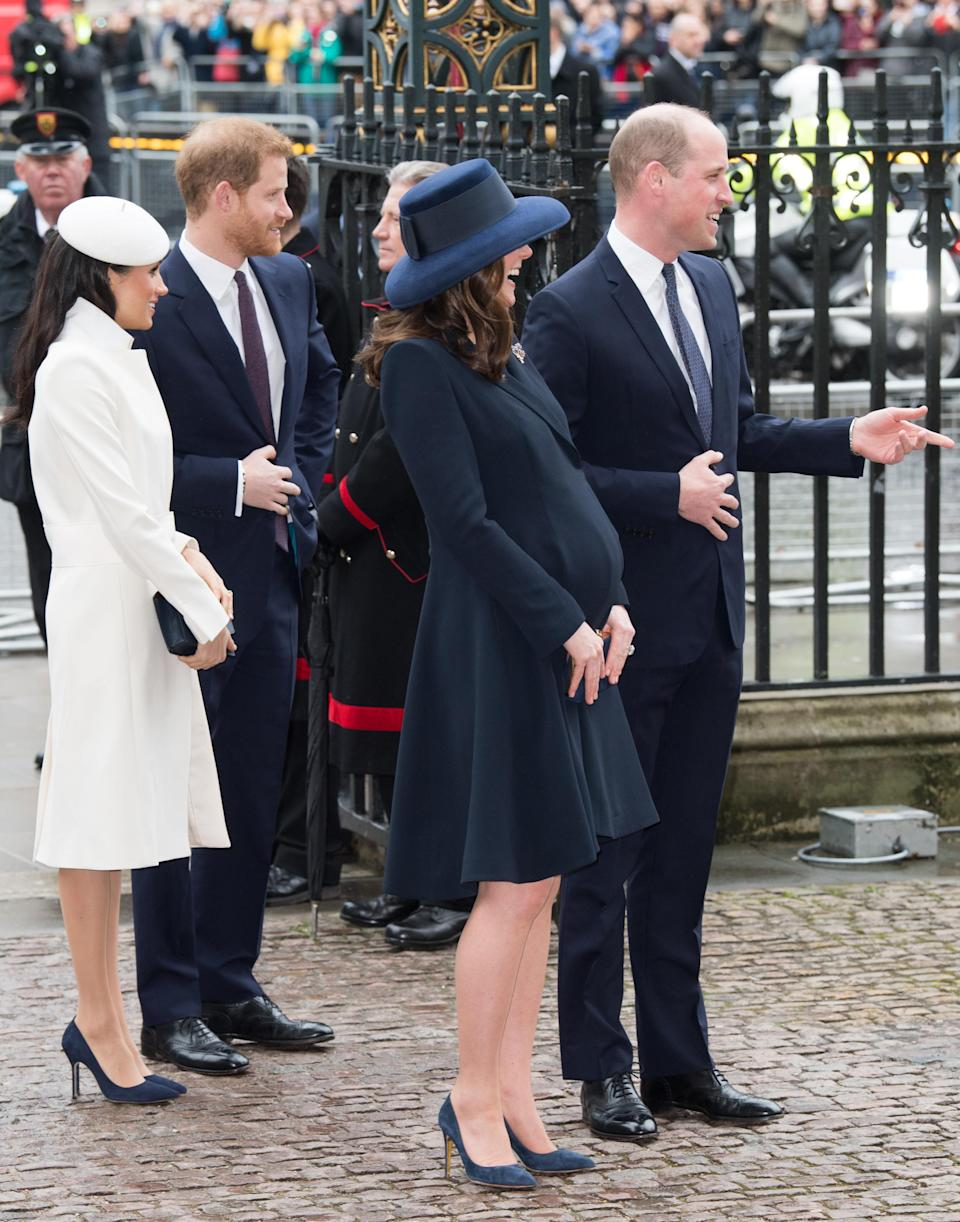 """<p>Royal insider Victoria Arbiter revealed that it is required of the women in the royal family to wear hose during public occasions. The <a rel=""""nofollow noopener"""" href=""""https://us.johnlewis.com/john-lewis-7-denier-barely-there-non-slip-tights-pack-of-1/p3241529"""" target=""""_blank"""" data-ylk=""""slk:John Lewis 7 Denier Barely There Tights"""" class=""""link rapid-noclick-resp"""">John Lewis 7 Denier Barely There Tights</a> are Kate Middleton's favourites, according to <em>The Sun. </em> </p>"""