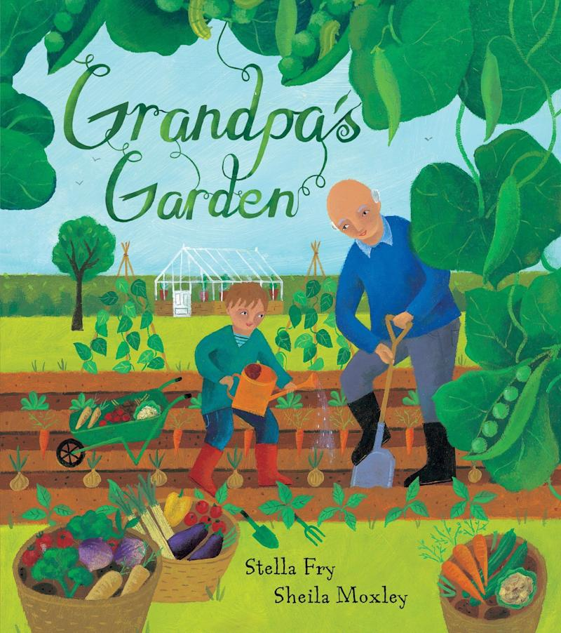 "The protagonist of this story experiences the magic of gardening and watching fruits and vegetables grow. <i>(Available <a href=""https://www.amazon.com/Grandpas-Garden-PB-Stella-Fry/dp/1846868092"" target=""_blank"" rel=""noopener noreferrer"">here</a>)</i>"