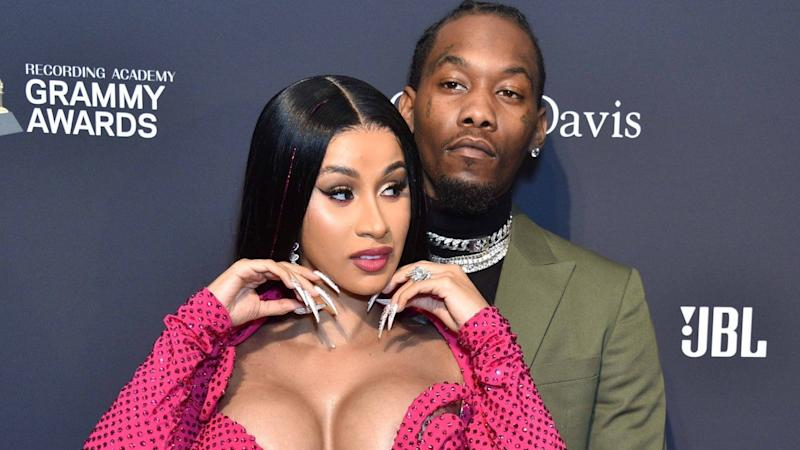 Offset Gets Handsy With Cardi B on the Red Carpet at Pre-GRAMMY Gala: Pics!