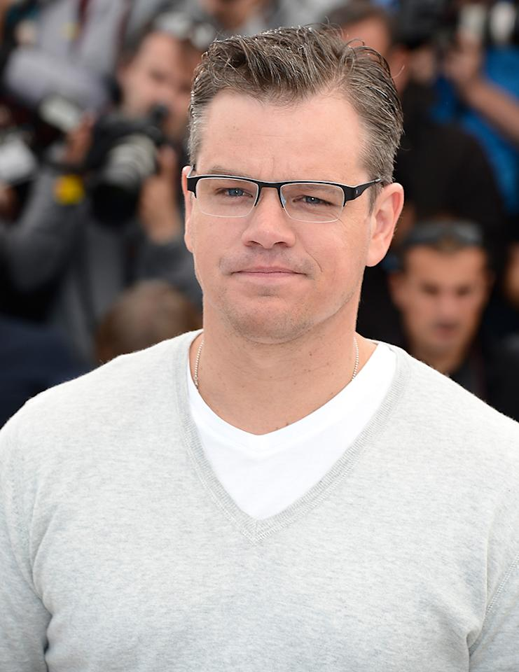 CANNES, FRANCE - MAY 21:  Actor Matt Damon attends the 'Behind The Candelabra' Photocall during The 66th Annual Cannes Film Festival at the Palais des Festivals on May 21, 2013 in Cannes, France.  (Photo by Pascal Le Segretain/Getty Images)