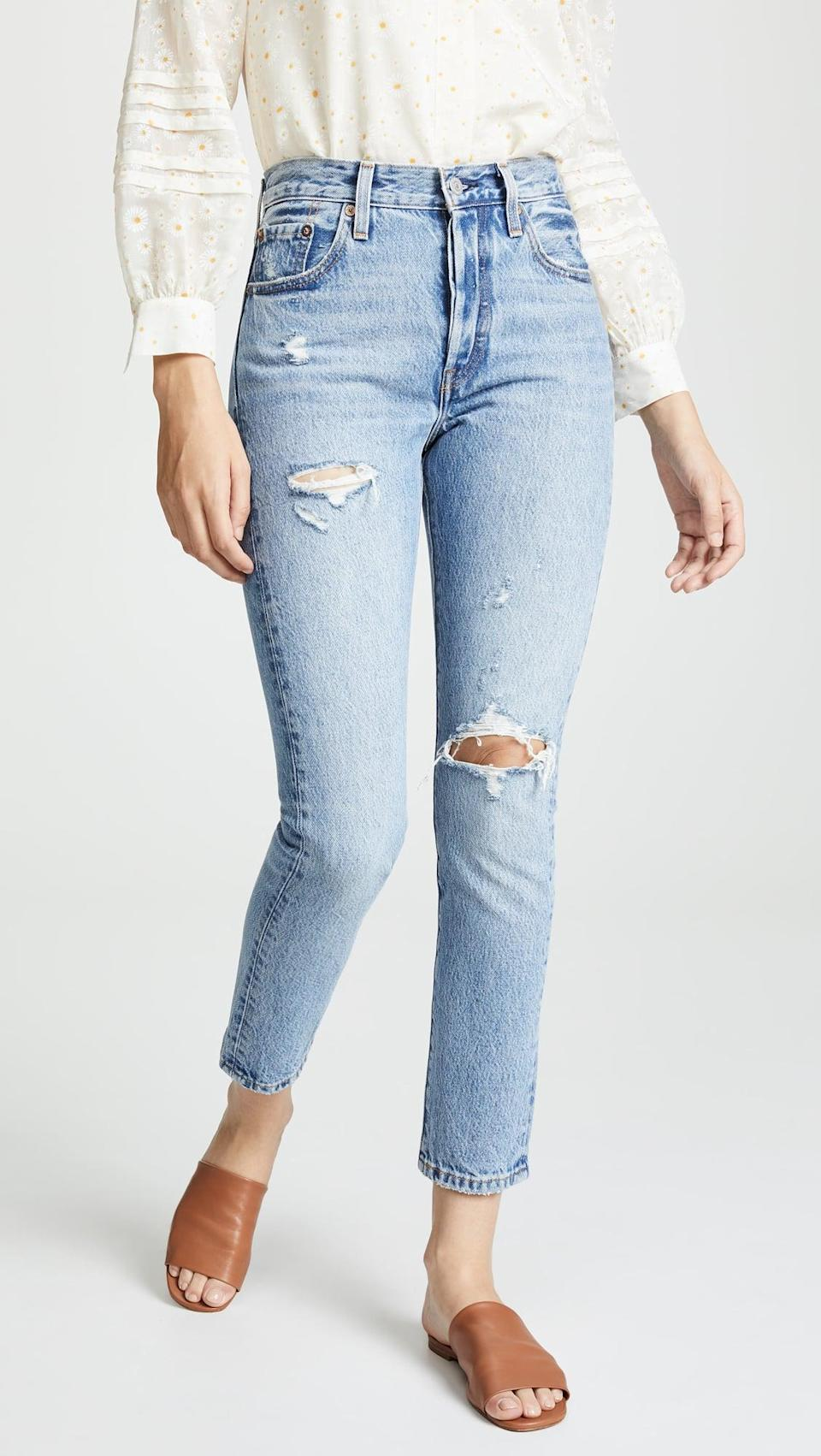 <p>These classic and timeless <span>Levi's 501 Skinny Jeans</span> ($98) are always a good idea. The distressed look is cool and easy to style.</p>