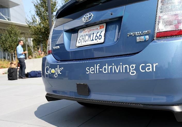 Google recently announced that its self-driving prototype cars are ready to leave the test track and hit public roads in California (AFP Photo/Justin Sullivan)