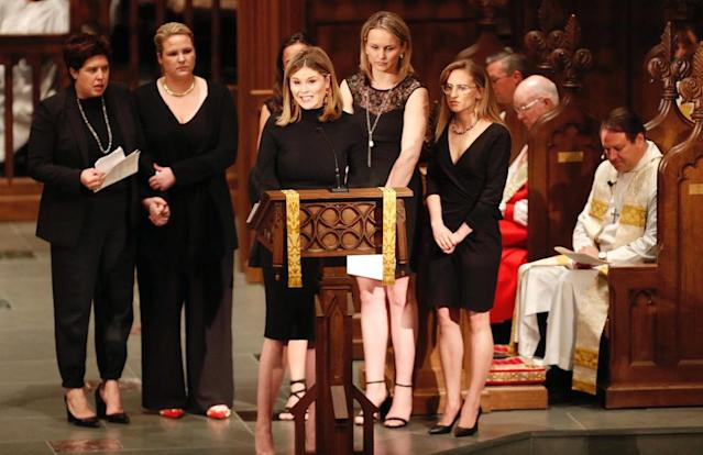 Jenna Bush Hager recites Bible verses at her grandmother's funeral (Photo: Brett Coomer / Houston Chronicle / POOL)