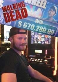 Texas Man Wins $670,280.00 Playing Aristocrat's The Walking Dead(TM) Slot Game at Sunset Station Hotel Casino in Las Vegas