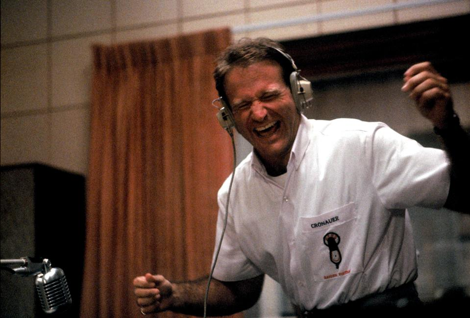 Robin Williams as Adrian Cronauer in Barry Levinson's 1987 hit, 'Good Morning, Vietnam' (Photo: Buena Vista/courtesy Everett Collection)