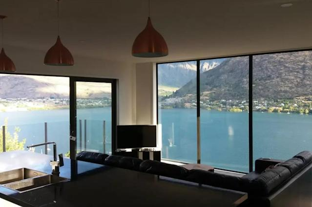 <p>How could you possibly watch TV with a background like that?<br>(Airbnb) </p>