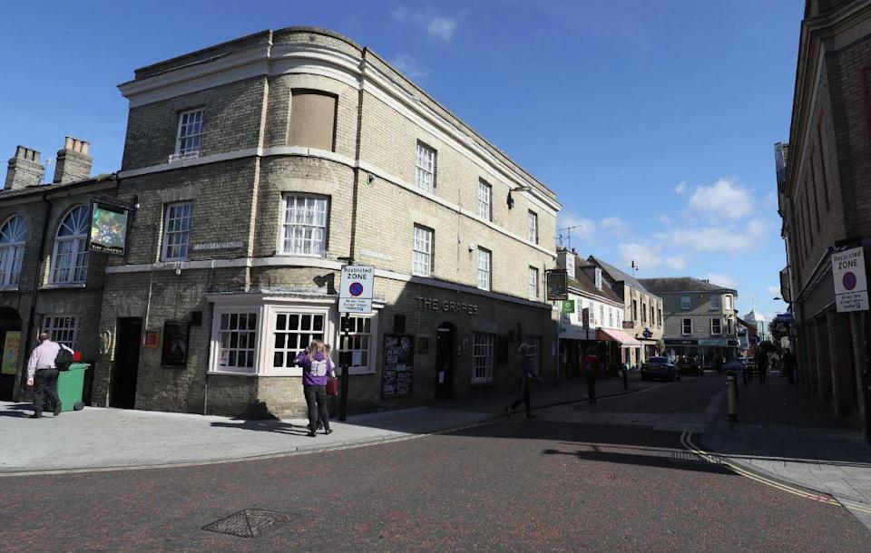 The incident took place in the historic town on Bury St Edmunds (PA)